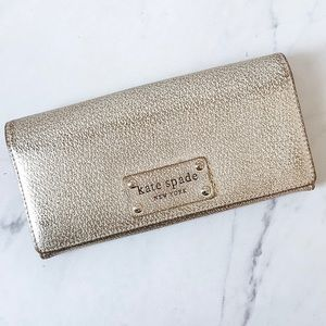 Kate Spade Gold Shimmer Envelope Wallet